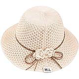 帽子 レディース ROSE ROMAN UVカット ハット 紫外線対策 可愛い 小顔効果抜群 麦わら帽子 サンバイザー uvカット キャップ 雨対策 日焼け ハット つば広 日焼け防止 軽量 熱中症予防 折りたたみ サイズ調節可