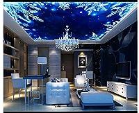 3d壁紙、壁画、天井、シルク布ファンタジーStarry Snowflakeゼニス天井天井、ayzr asg513ag1531459
