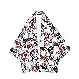 [lEMCOS] カーディガン メンズ 夏 和式 無地 パーカー ゆったり コート 夏祭り 羽織 前開き 大きいサイズ カジュアル 和風 和式パーカー 五分袖 一つボタン シンプル トップス おしゃれ 個性 Tシャツ