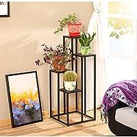 HBY 植物スタンド 屋内屋外植木鉢メタルラック キャビネットフラワースタンド 7金属植物棚ガーデンテラス フラワースタンド (Color : Iron, Size : S-100)
