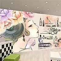 Ljunj カスタム壁紙3D壁画ファッション美容まつげネイルショップ背景壁絵画壁紙-350X250Cm