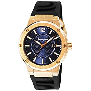 [サルヴァトーレフェラガモ]Salvatore Ferragamo 腕時計 F-80 ブルー文字盤 FIF050015 メンズ 【並行輸入品】