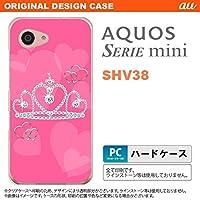SHV38 スマホケース AQUOS SERIE mini SHV38 カバー アクオス セリエ ミニ クラウン ピンク nk-shv38-601