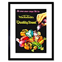Ad Food Sweet Candy Chocolate Nut Fondant Creme UK Framed Wall Art Print フードイギリス壁