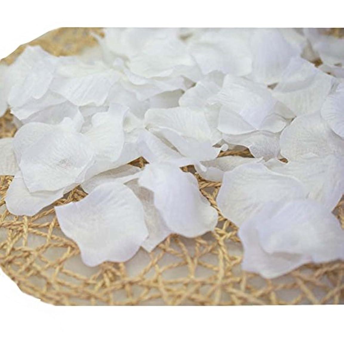 劣る強化請う結婚式のための人工花びら白840のセット