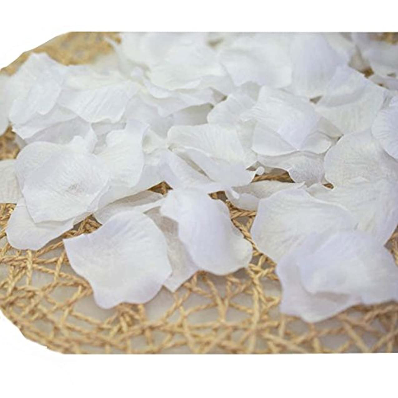 フェッチ純粋に審判結婚式のための人工花びら白840のセット