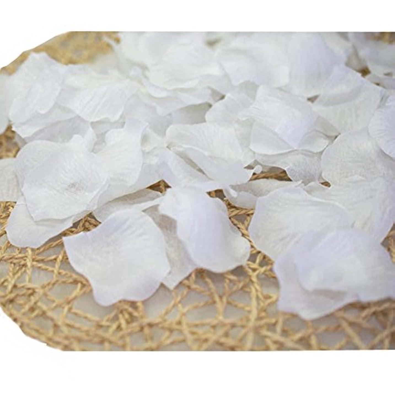 神秘リズム迷信結婚式のための人工花びら白840のセット