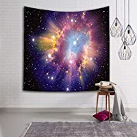 JSSFQK タペストリーホーム3D宇宙銀河タペストリー壁掛けタペストリーリビングルームの寝室の装飾タペストリー タペストリー (色 : A, サイズ さいず : 60x80inches)