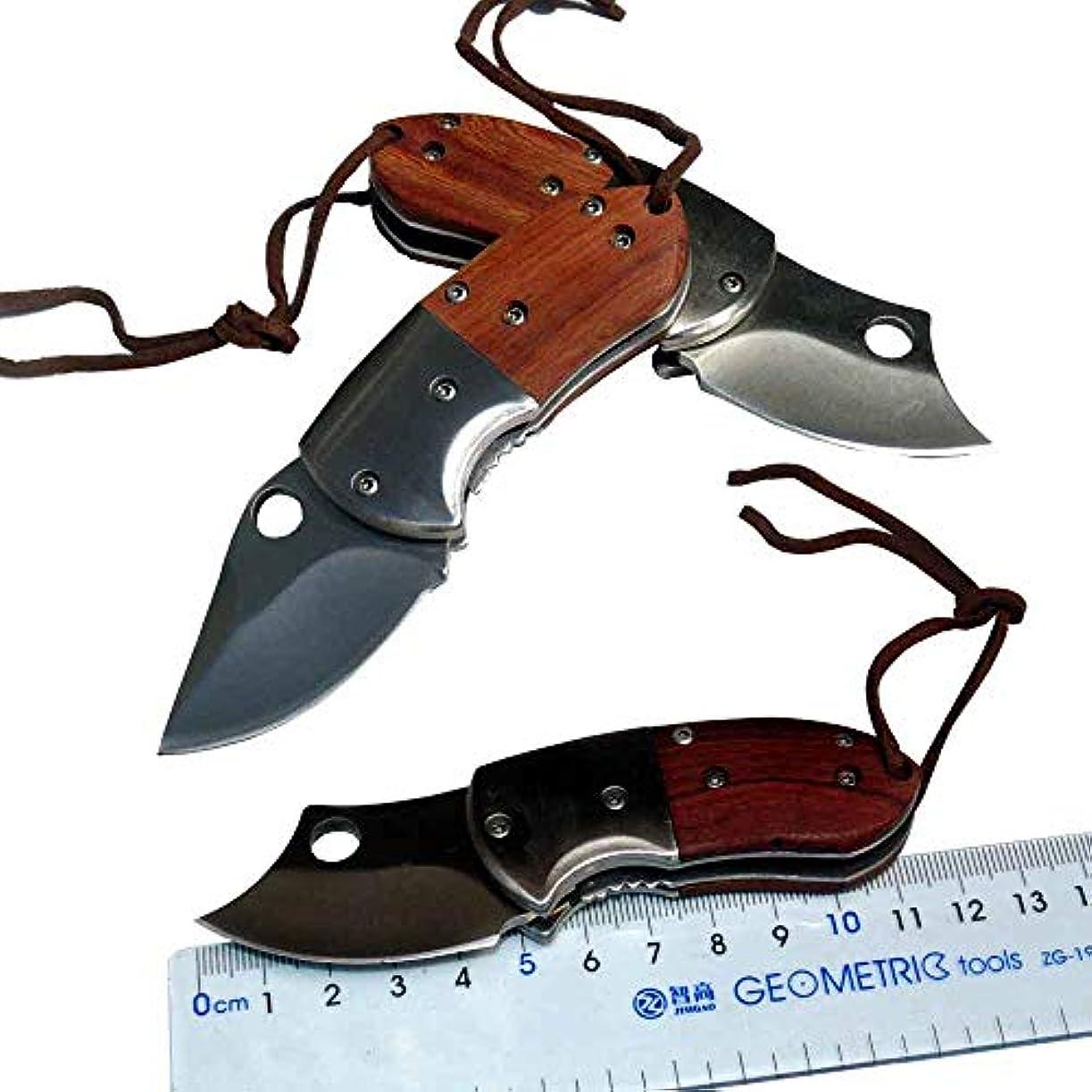 ペイント翻訳者描くアウトドアキャンプのナイフとポケットナイフ旅行のための3 CR 13ブレード