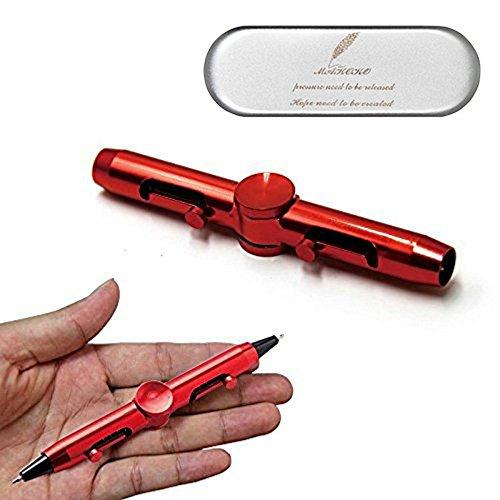 ペン回し ストレス解消ペン 多機能ペン 改造ペン ボールペン 回しやすい 高速 手癖解消 文房具 集中力 筆記 レッド