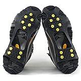 雪対策 靴底 滑り止め スパイク 簡単装着 路面凍結 転倒防止 予備ピン2個付き (L 24.5-28.0cm)