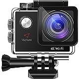 Victure アクションカメラ 4K超高画質 2000万画素 WIFI 2個電池 2インチ画面 170度広角 手ブレ補正 30M防水