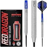 Red Dragon Razor Edge Original: 24g Tungsten Steel Darts Set with Flights, Shafts, Wallet, Checkout Card