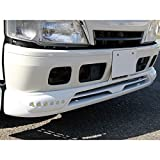 日野 デュトロ/トヨタ ダイナ フロントスポイラー LED付き 無塗装 -