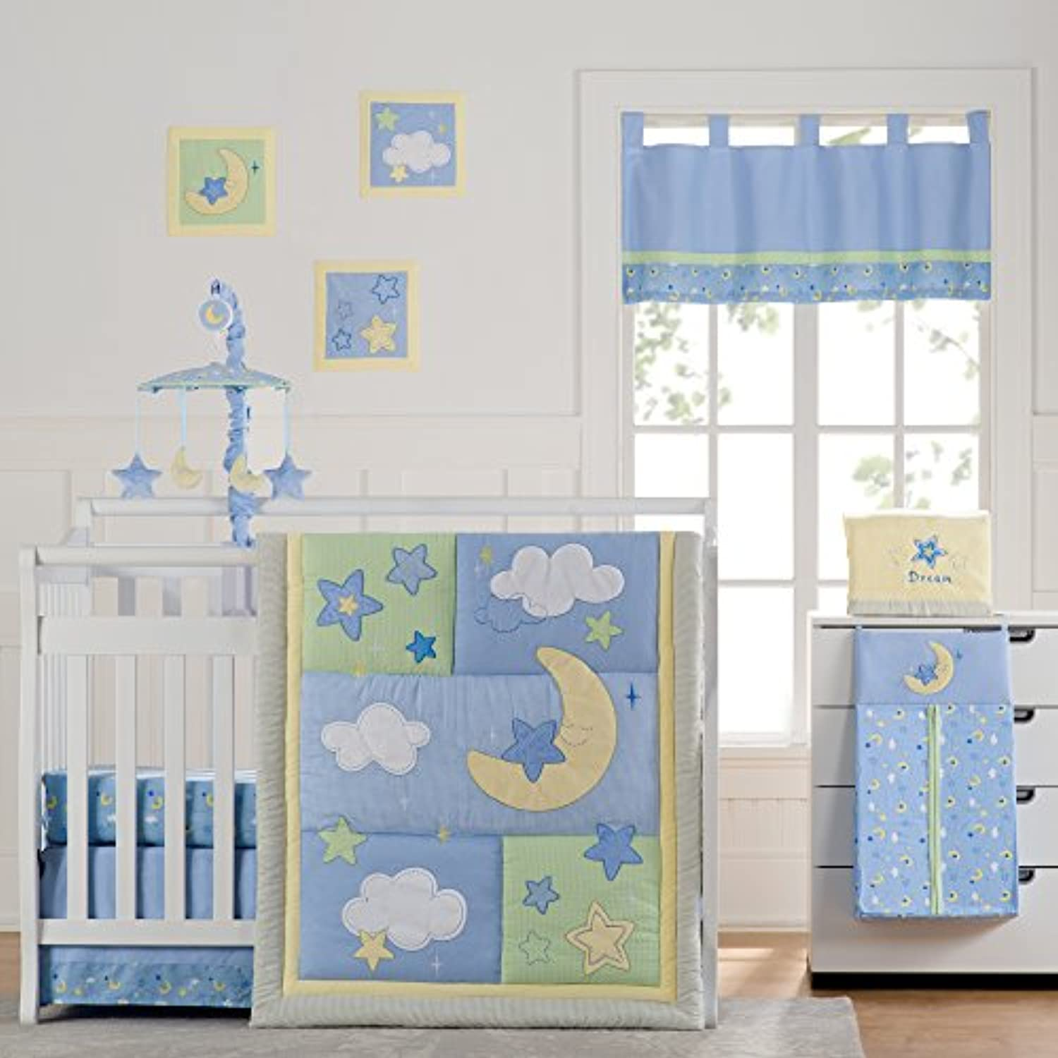 Wish I May Quintessential Cotton quilted 10 Piece Crib Bedding Set by Laugh, Giggle & Smile