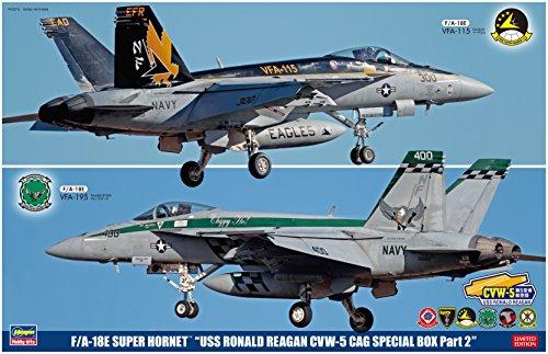 ハセガワ 1/72 F/A-18E スーパーホーネット USS ロナルド レーガン CVW-5 CAG スペシャルパック Part2 プラモデル SP343