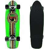 "PARADISE Barking Rasta Cruiser Deck Skateboard with Grip, Neon Green/Black, 8 x 26.5"" [並行輸入品]"