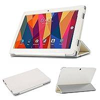 Maxku Cube iPlay 10 ケース高級PUレザーケース カバー 手帳型 軽量 全面保護型 スタンド機能付き スマートカバー(ホワイト)
