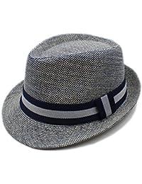 Yaojiaju 夏のビーチサンハット、女性のためのベルトエレガントな帽子とファッションリネンキャップ