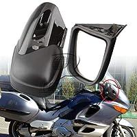 FidgetGear BMW K1200 LT K1200M 1999-2008 00用マットブラックオートバイバックミラーサイドミラー