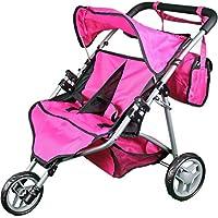[トイズトゥディスカバー]Toys To Discover Mommy & Me Twin Doll Stroller with Free Carriage Bag SM9667 [並行輸入品]