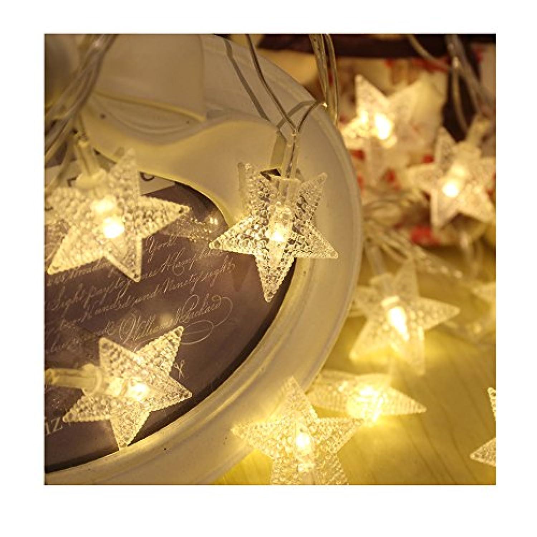 クリスマスLEDライト イルミネーションライト 10M 80球  星 オフホワイト マルチカラー オーナメント 電池式  エクステリア ロマンチック (オフホワイト)