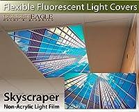 skyscraper- 2ft x 4ftドロップ天井蛍光灯装飾天井ライトカバースカイライトFilm