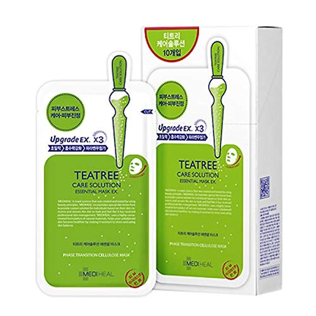 二年生かんがい電話をかけるKorea Mediheal Teatree Healing Essential Mask Pack 1box 10sheet