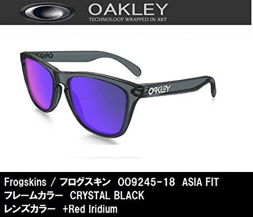 (오클리) OAKLEY 썬글라스 FROGSKINS 프로그 스킨 Crystal Black [OO9245-18] 크리스탈 블랙 ONE SIZE-