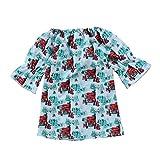 NIKE スニーカー ベビー服セット、ppbuy幼児用子供用ベビーガールズオフショルダー漫画プリンセスドレスクリスマス服 3T レッド