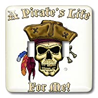 3drose LLC lsp _ 22843_ 2Pirate Skull with a Pirate S Life For Me、ダブル切り替えスイッチ