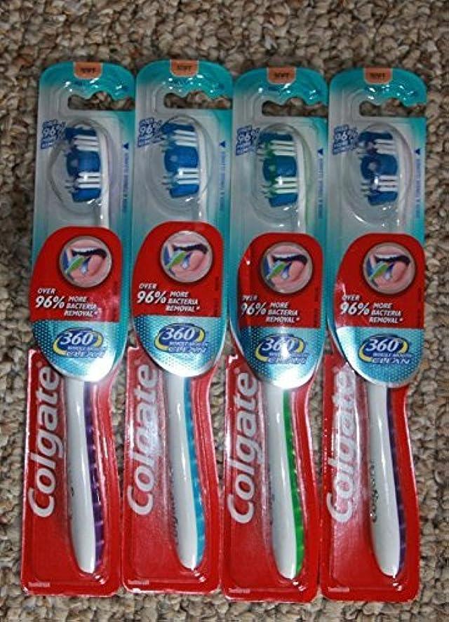 病弱収益規則性Colgate Palmolive コルゲート歯ブラシ360口全体のクリーン完全な頭部ソフト
