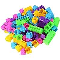 ノーブランド品  500枚 プラスチック製 ビルディングブロック 積み木 子供 知育玩具 多色