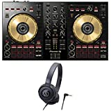 Pioneer DJ DJコントローラー DDJ-SB3-N + ヘッドホン DJセット (オリジナルステッカー付き)