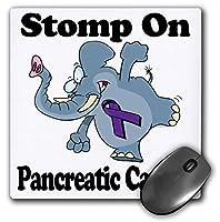 3drose LLC 8x 8x 0.25インチ象Stomp On膵臓がん啓発リボン原因デザインマウスパッド( MP _ 114616_ 1)