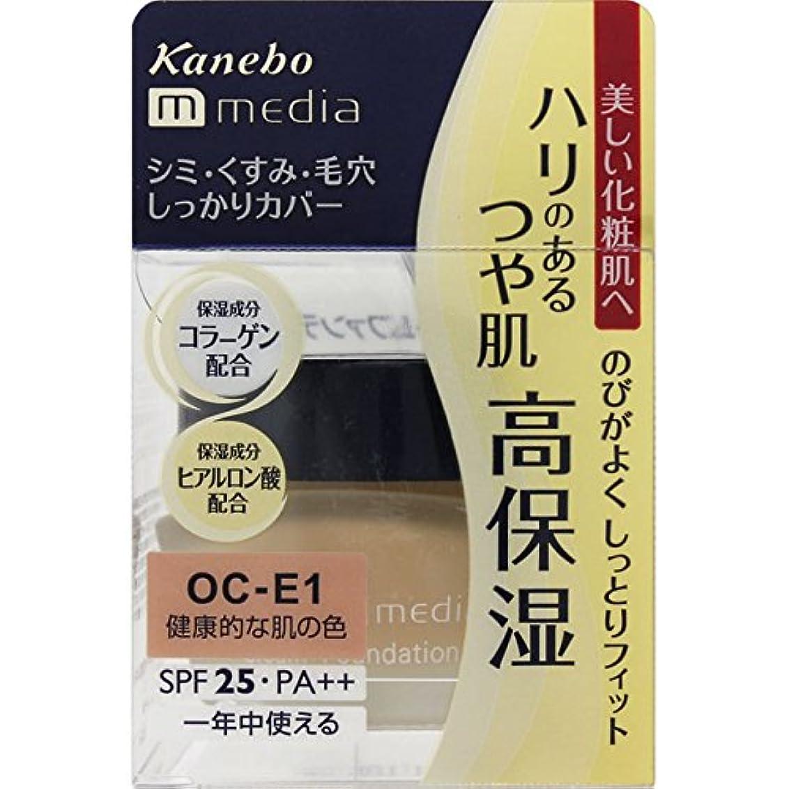 貴重な滑り台グローバルカネボウ media(メディア) クリームファンデーション OC-E1(健康的な肌の色)