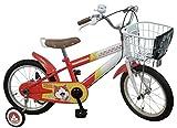 JoyPalette(ジョイパレット) 妖怪ウォッチ ジバニャン 16インチ 幼児自転車 [妖怪ウォッチ型ベル、貴族マーク入りカゴカバー] オレンジ/ホワイト 1285