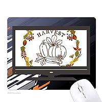 感謝祭の花輪の葉のパターン ノンスリップラバーマウスパッドはコンピュータゲームのオフィス