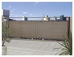 タカショー バルコニーシェード モカ 約360×100cm