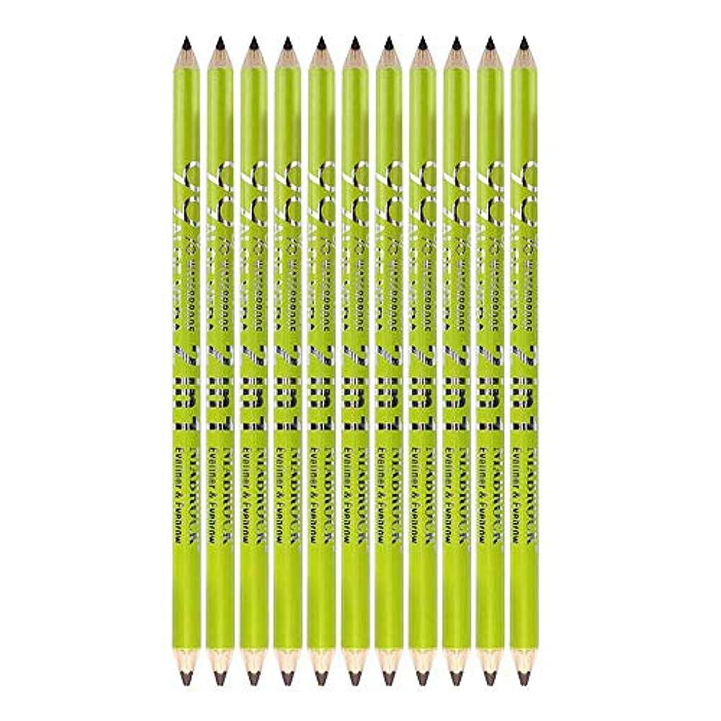 どこメカニックただやる12ピースアイライナーペンシル防水化粧品アイメイク+鉛筆削り