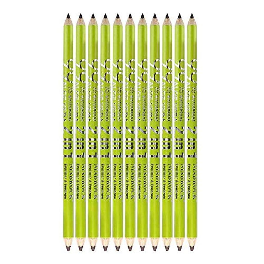 便益治す洞察力のある12ピースアイライナーペンシル防水化粧品アイメイク+鉛筆削り