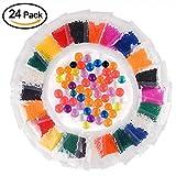 KUUQA ぷよぷよボール 水で膨らむ おもちゃ セット 単色 包装 スーパーボールすくいセット 24パック