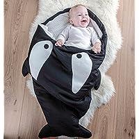 スーパー快適なCartoon Shark Sleepingバッグanti-kicking新生児Sacksおくるみブランケットスリープバッグfor Kids/Baby ブラック Black