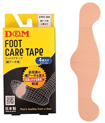 D&M(ディーアンドエム) 横アーチ用 テーピングテープ フットケアテープ 4枚入り PFC-304