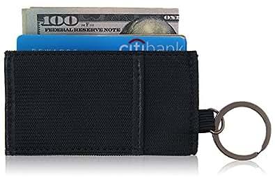 [Kinzd] 輪ゴムカードケース スリム財布 カードと紙幣収納 ブラック (ブラック)