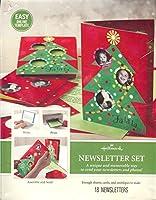 ホールマークニュースレターセット(クリスマステーマ/ Makes 18ニュースレターwithカードと封筒)