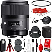 Sigma 35mm f / 1.4アートDG HSMレンズfor Nikon DSLR Cameras w / USB Dockグローバルビジョンバンドル