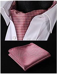 ヒスデン(HISDERN) アスコットタイ メンズ 結婚式 アスコットタイ チーフ セット フォーマル スカーフ メンズ マフラー ビジネス ネッカチーフ 襟巾 洗濯可能 水玉 ドット柄