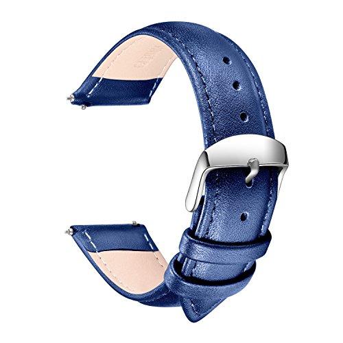 [해외]SONGDU이지 클릭 가죽 시계 벨트 16mm 18mm 20mm 22mm 24mm Quick Release Watch Band 남녀 통용 교환 밴드 가죽 스트랩 Leather Strap 방수 벨트 스테인리스 버클 멀티 컬러 선택/SONGDU easy click real leather watch belt 16mm 18mm 20mm 22mm 2...