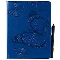 iPad 2 3 4 Flip Cover, Case, Scheam カバー Card Slot [Stand Feature] Leather Wallet Case Vintage Book Style Magnetic Protective Cover Holder for iPad 2 3 4 - Blue